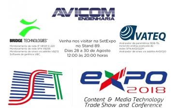 Visite o stand da Avicom na feira da SetExpo 2018