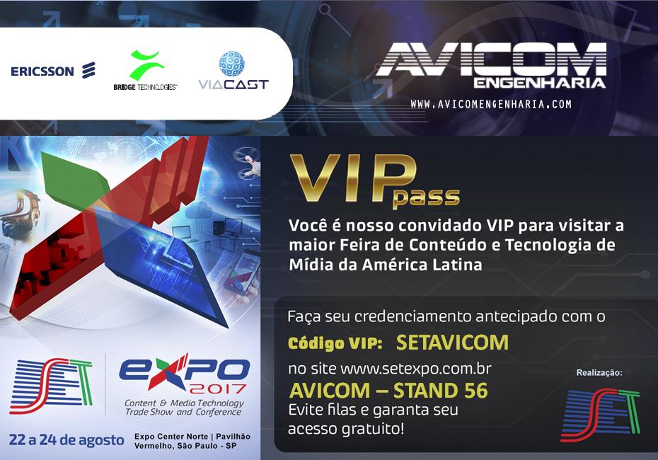 Visite o stand da Avicom na feira da SET Expo 2017